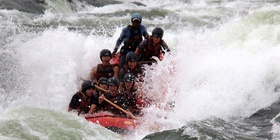 White water rafting the Nile