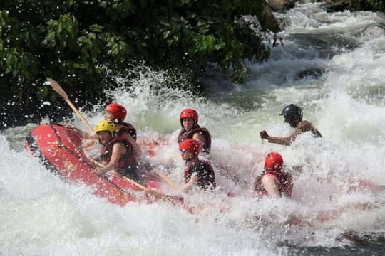 White water rafting on the Nile, Jinja, Uganda